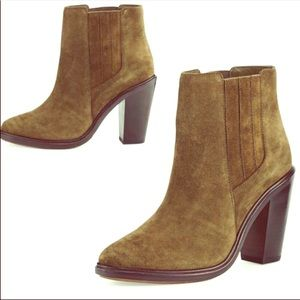 Joie Cloee Suede Ankle Boot in Olive